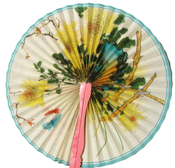 Chinese Hand Fan - Metro Retro Vintage