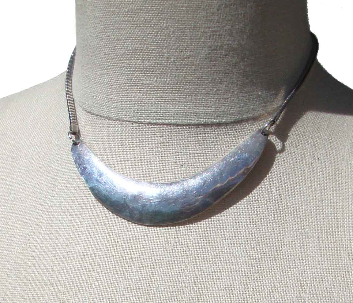Vintage Modernist Celia Sebiri Necklace Sterling Silver Collar