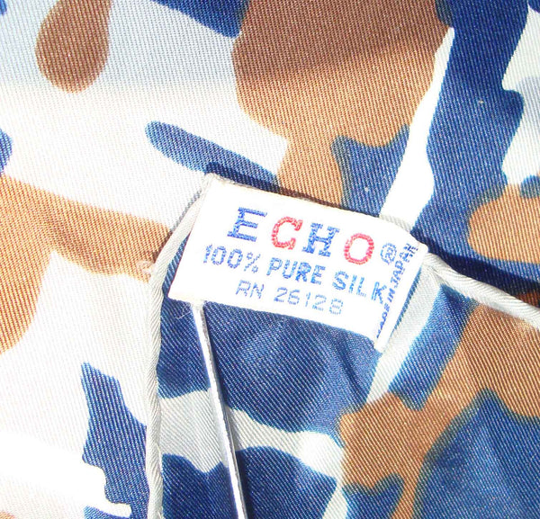 Echo Pure Silk Scarf Label