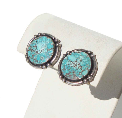 Vintage Sterling & Turquoise Southwestern Earrings