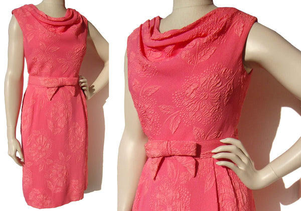 60s Pink Cocktail Dress