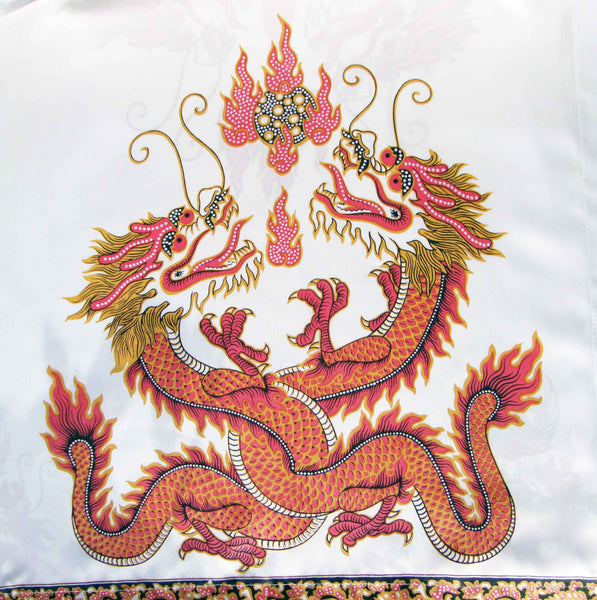 Vintage Chinese Dragons Novelty Print