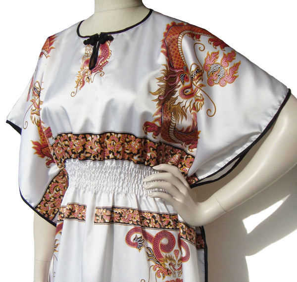 Asian Dragon Caftan - Metro Retro Vintage