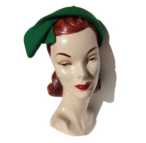 50s Green Ladies Hat