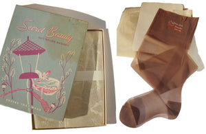 50s Nylon Stockings Sheer Seamless Hosiery New In Box Sz 8.5 – Set of 3