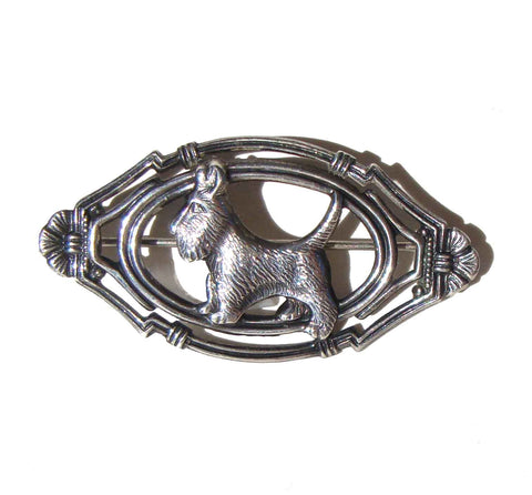 Vintage 40s Scottie Dog Pin