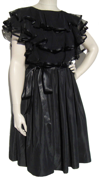 60s Black Dress - Metro Retro Vintage