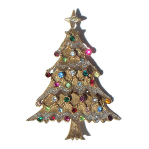 Vintage Castlecliff Christmas Tree Pin Brooch
