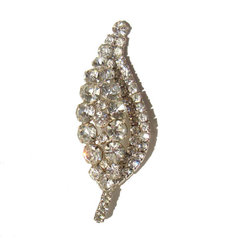 Vintage Juliana Rhinestone Brooch DeLizza & Elster Leaf Cocktail Pin
