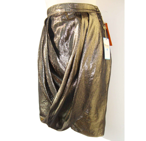 1980s Disco Metallic Skirt - Metro Retro Vintage