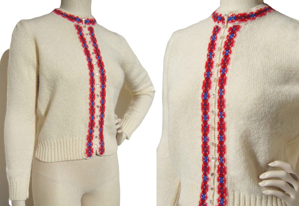 Vintage 60s Sweater Shetland Wool Cardigan Archie Brown & Son