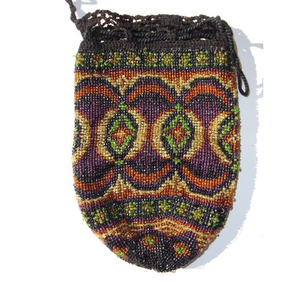 1920s Beaded Flapper Reticule Bag