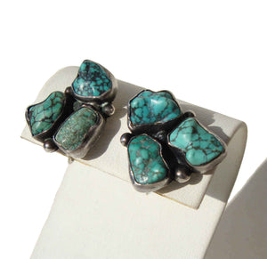 Vintage Sterling & Turquoise Earrings