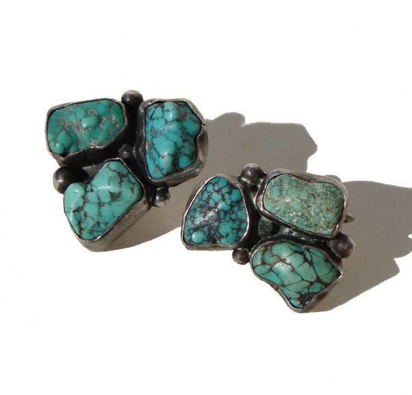 Vintage Turquoise Nugget Earrings
