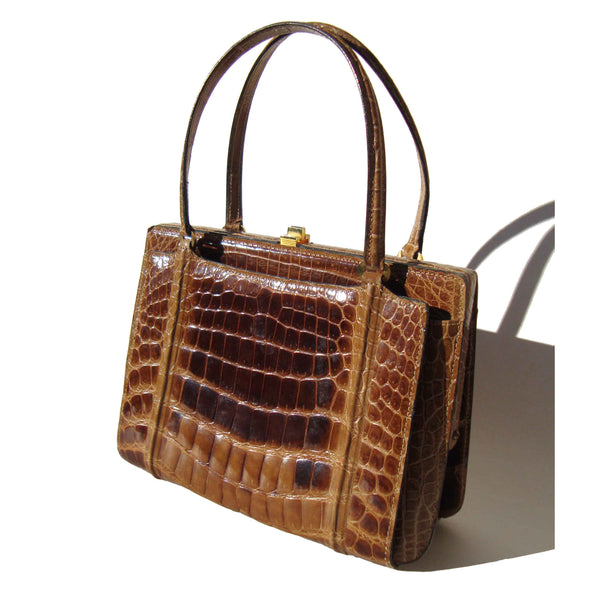 Vintage Crocodile Handbag