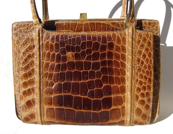 50s Crocodile Bag Pocketbook
