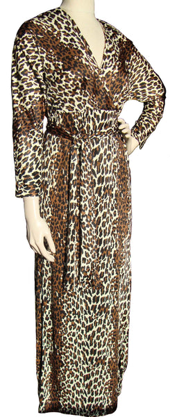 Vintage Leopard Print Lounging Gown