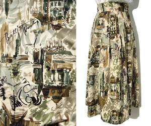 Parisian Novelty Print Skirt