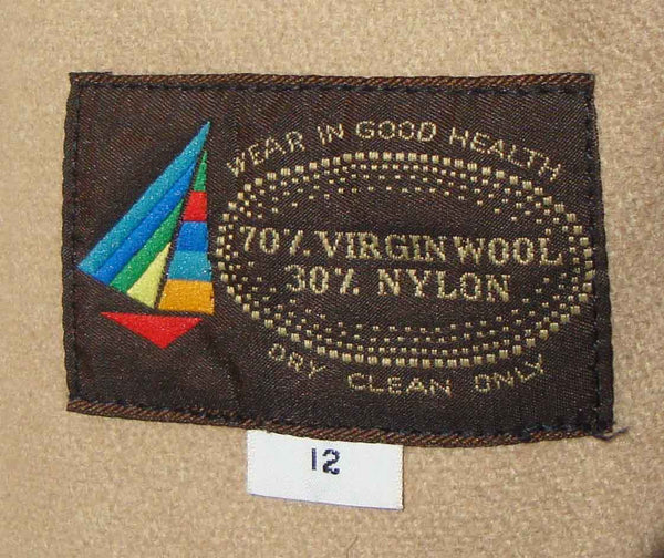 Vintage Trench Coat Label