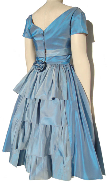 Tiered Ruffle 50s Party Dress