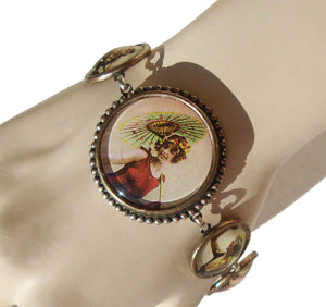 Vintage Flappers Bracelet Bathing Beauty Beach Pin Up DftD - Designs from the Deep
