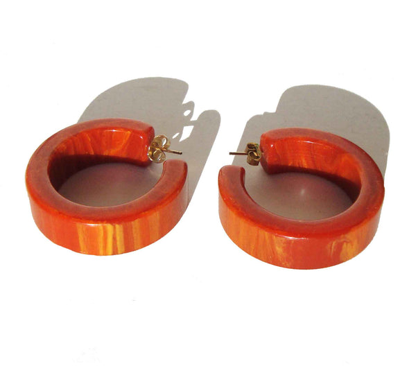 Bakelite Hoop Earrings - Metro Retro Vintage