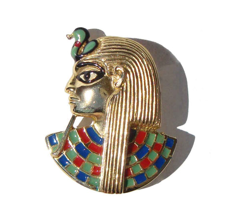 Vintage Egyptian Revival Pharaoh Brooch – Sphinx of England