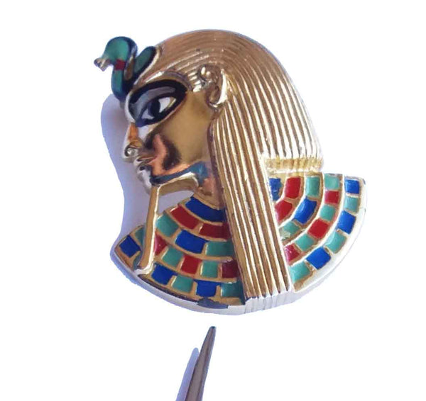 Vintage 60s Egyptian Brooch by Sphinx
