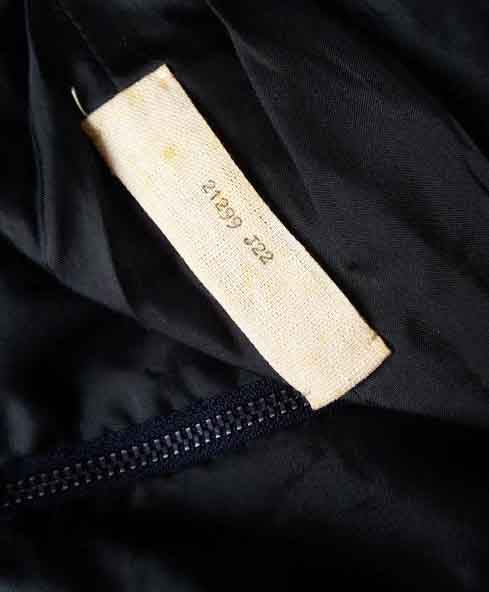 Label inside Christian Dior Suit