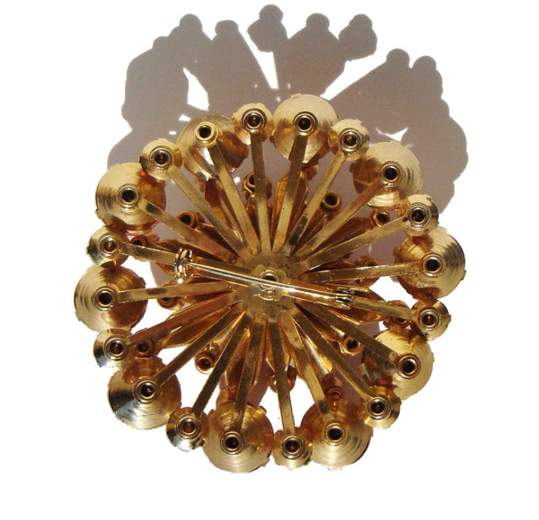 Back of Vintage Cocktail Brooch