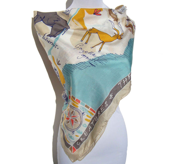 Land of Creatures African Animal Scarf