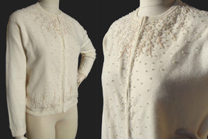 60s Lambswool Beaded Sweater