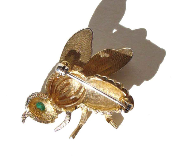 Vintage Insect Bee Pin by Panetta