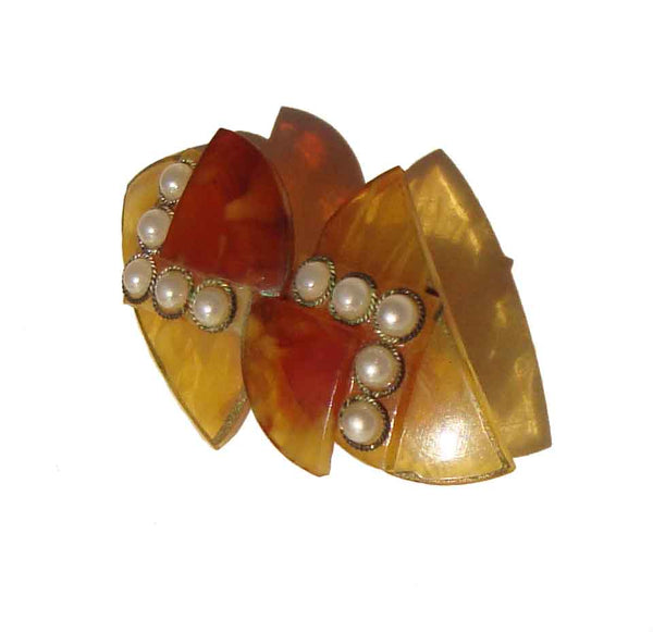 1930s Celluloid Brooch - Metro Retro Vintage