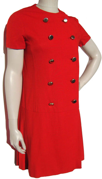 60s Red Dress - Metro Retro Vintage