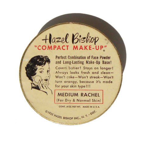 Vintage 50s Hazel Bishop Compact Makeup Cosmetic