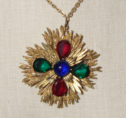 Vintage Maltese Cross Necklace