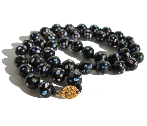 40s Black Chinese Export Beads