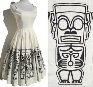 50s Shaheen Tiki Dress