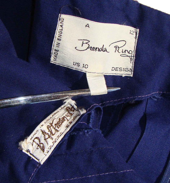 Vintage Brenda Ring Dress Label