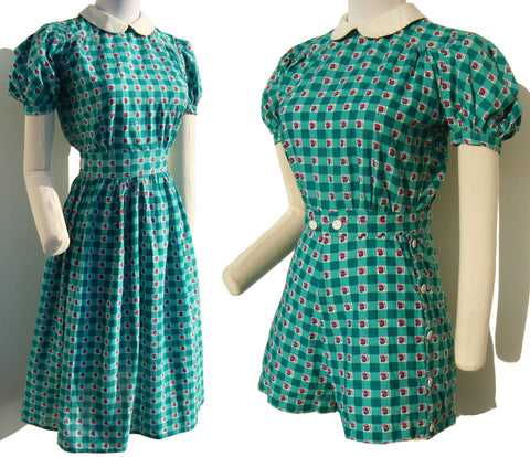 Vintage 40s Playsuit