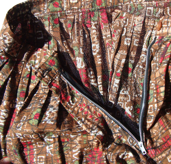 VIntage Abstract Print Skirt