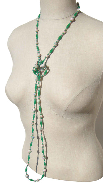 Vintage Rope Beaded Necklace