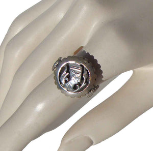Vintage Nefertiti Ring Ancient Egyptian Silver Cameo Sz 9