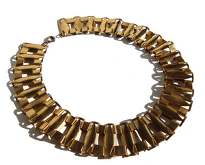 Vintage 30s Egyptian Deco Collar Necklace
