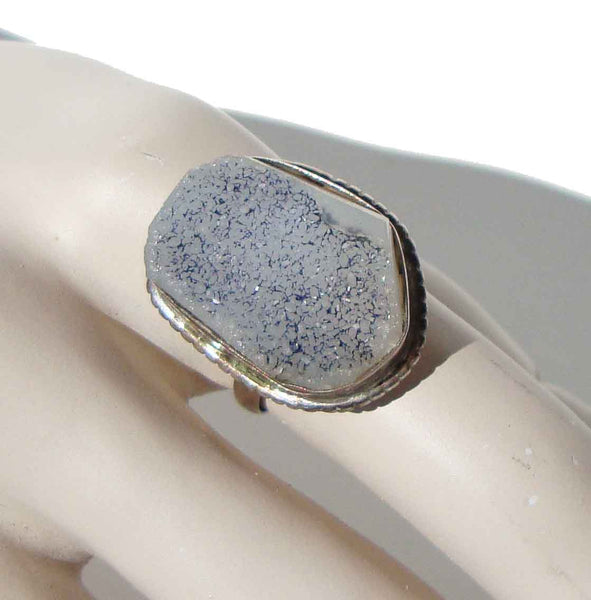 Sterling & Druzy Quartz Ring