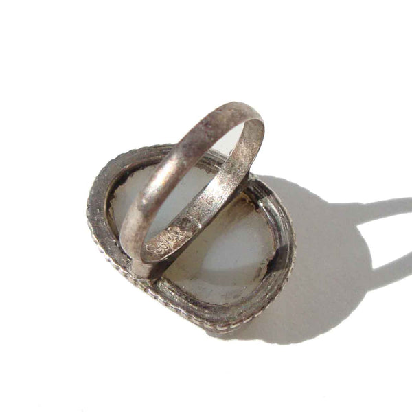 Quartz and Sterling Silver Ring