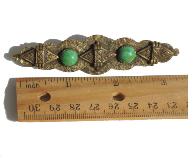 Vintage 30s Egyptian Revival Bar Pin Brooch