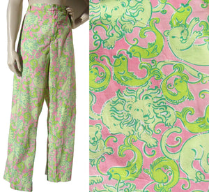 Vintage Lilly Pulitzer Pants Fried Catfish