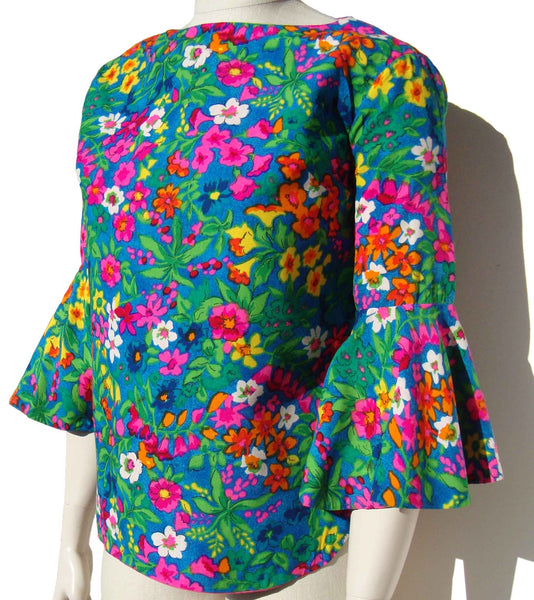 Vintage Butterfly Sleeve Blouse